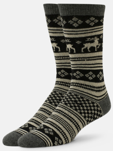 B.ELLA Vixen Reindeer Socks, Ladies' One Size - Charcoal (BE0483-07930)