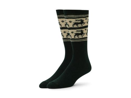 Alchester & Sons Rudolph Reindeer Socks, Men's One Size - Hunter (AL0678-05066)