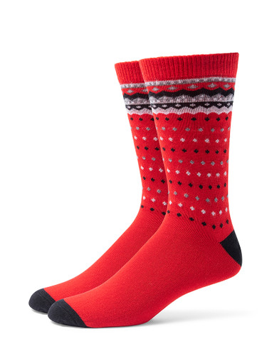 Alchester & Sons Telluride Socks, Men's One Size - Red (AL9245-03000)
