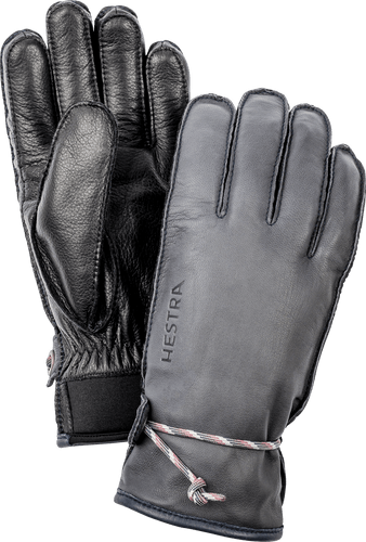 Hestra Wakayama Unisex Gloves, Grey and Black (30720-350100)