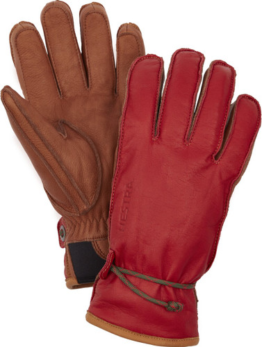 Hestra Wakayama Unisex Gloves, Red and Brown (37020-560750)