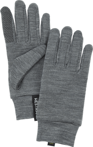 Hestra Merino Touch Point Unisex Gloves, Grey (34440-350)
