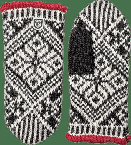 Hestra Nordic Wool Mitt, Unisex, Black/White