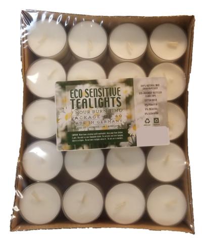 German Eco Sensitive Tealight Candles, Box of 40 (93-18531-02)