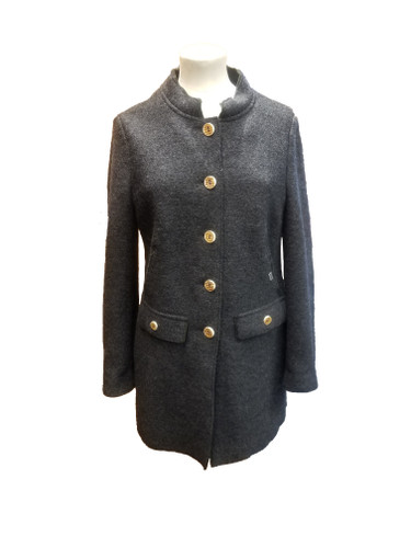 Geiger Ladies' Coat, in Dark Grey/Forest Green (19420-9050)