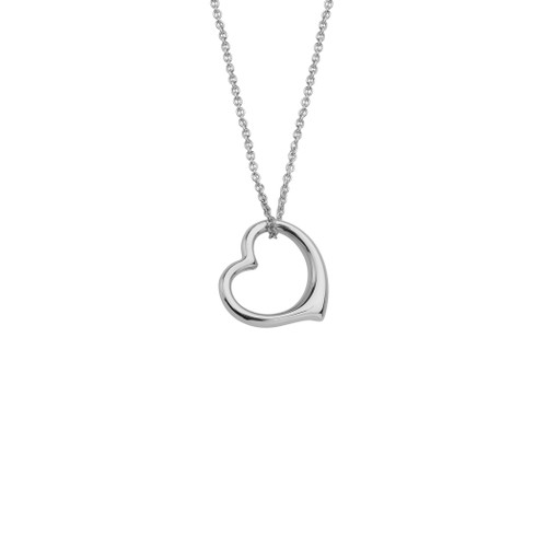 Danish Silversmiths Floating Heart Necklace (SN482ZT)