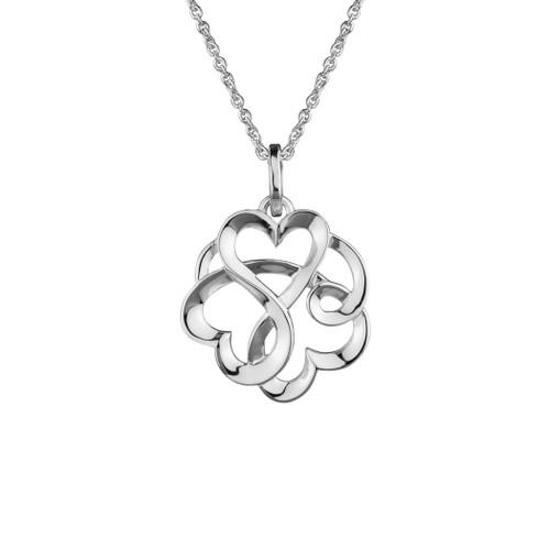 Danish Silversmiths Locking Hearts Necklace (SNF33YA)
