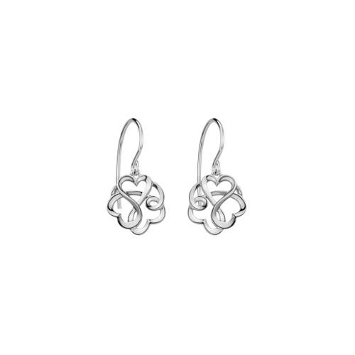 Danish Silversmiths Locking Hearts Earrings (SET68YA)
