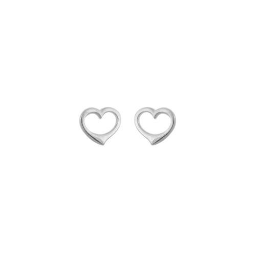 Danish Silversmiths Floating Heart Earrings (SEF65ZT)