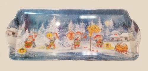 Almond Cake Tray - Christmas Scene (1055-396B-0629b)