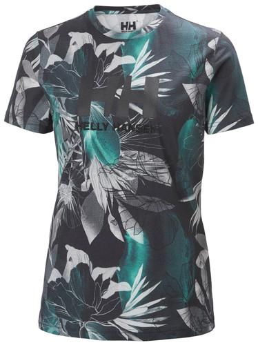Helly Hansen TShirt, Women's - Midnight Green Esra Limited Edition Print, 34112-436