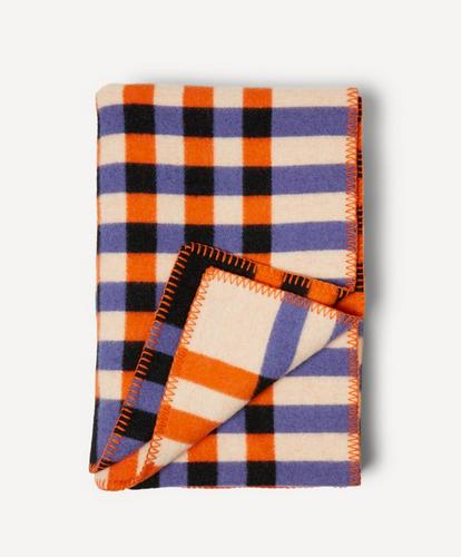 Oleana Graph Blanket, 540-E Orange Purple