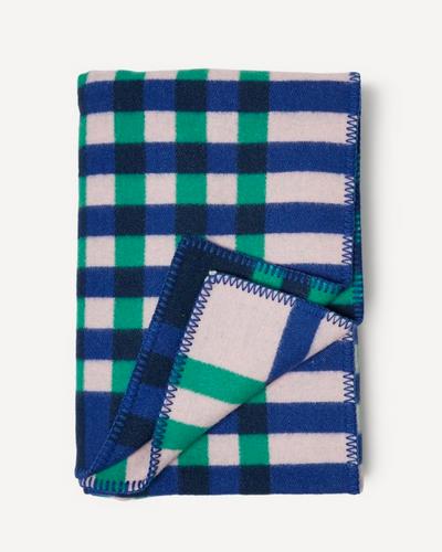 Oleana Graph Blanket, 540-W Blue/Green
