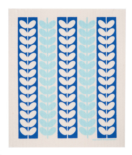 Swedish Drying Mat - Leaf Stems Blue