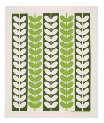 Swedish Drying Mat - Leaf Stems Green