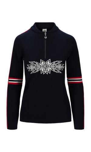 Dale of Norway OL Spirit Sweater,Navy/Off-white/Raspberry