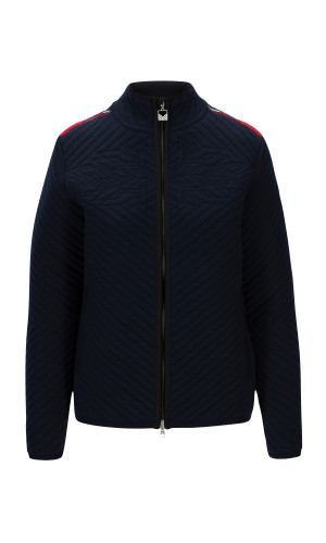 Dale of Norway Padded Jacket,Navy/Off-white/Raspberry