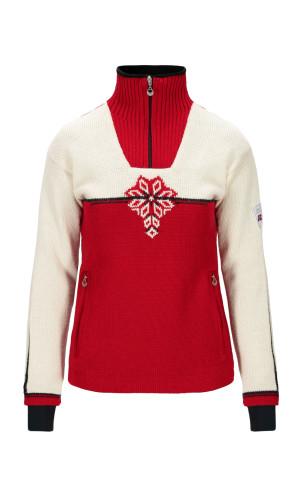 Dale of Norway Veskre Weatherproof Sweater,Raspberry/Offwhite/Dark Charcoal,94841B