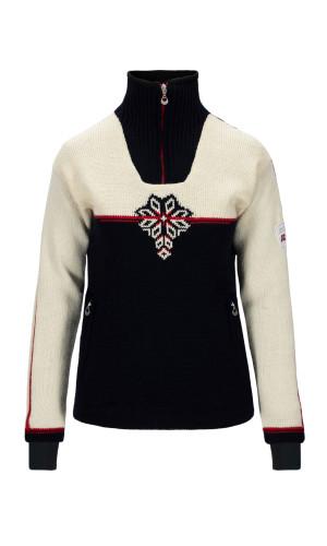 Dale of Norway Veskre Weatherproof Sweater,Navy/Offwhite/Raspberry,94841C