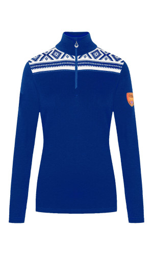Dale of Norway Cortina Women's Basic Sweater (Base Layer), Ultramarine/Off White, 93521H