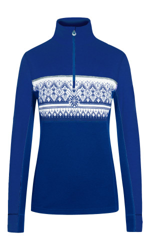 Dale of Norway Moritz Basic Women's Sweater (Base Layer), Ultramarine/ Offwhite, 92681D