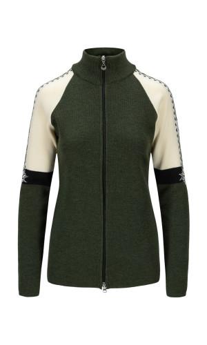 Dale of Norway Geilo Jacket Ladies - Dark Green/Offwhite/Black,83461N