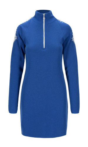 Dale of Norway Geilo Dress, Ladies - Ultramarine/Offwhite,65100H