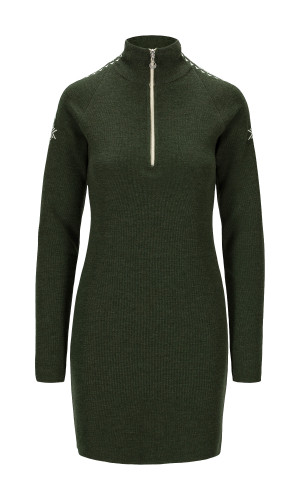 Dale of Norway Geilo Dress, Ladies - Dark Green/Offwhite,65100N