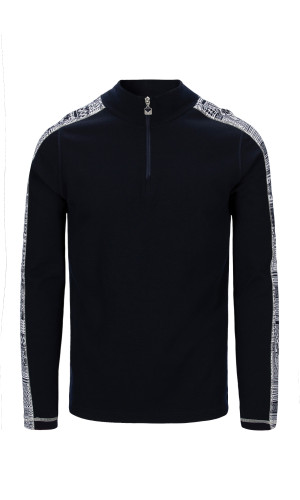 Dale of Norway OL History Basic Men's Sweater (Base Layer), Navy/Off White/Raspberry, 94831C