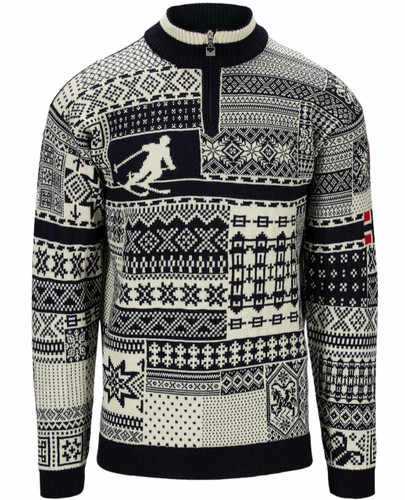 Dale of Norway Ol History Unisex Sweater - Navy/Off White,94931C
