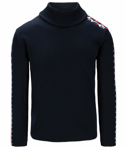 Dale of Norway Mount Aire Sweater, Mens - Navy/White/Raspberry,94611C