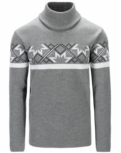 Dale of Norway Mount Ashcroft Sweater, Mens - Smoke/White/Black,94631E