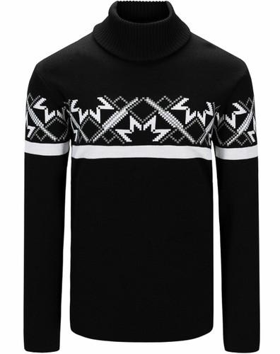 Dale of Norway Mount Ashcroft Sweater, Mens - Black/White/Smoke,94631F