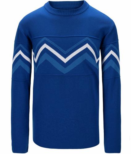 Dale of Norway Mount Shimmer Sweater, Mens - Ultramarine/Cobalt/White,94591H