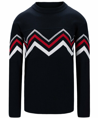 Dale of Norway Mount Shimmer Sweater, Mens - Navy/Raspberry/White,94591C