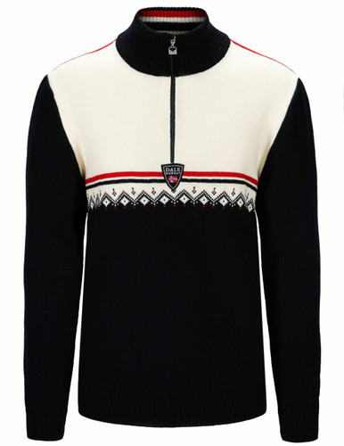 Copy of Dale of Norway Lahti Sweater, Mens - Navy/Off White/Raspberry,95031C