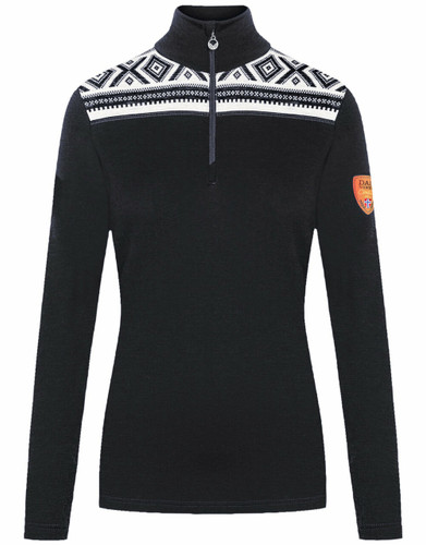 Dale of Norway Cortina Women's Basic Sweater (Base Layer), Dark Charcoal/Off White, 93521T