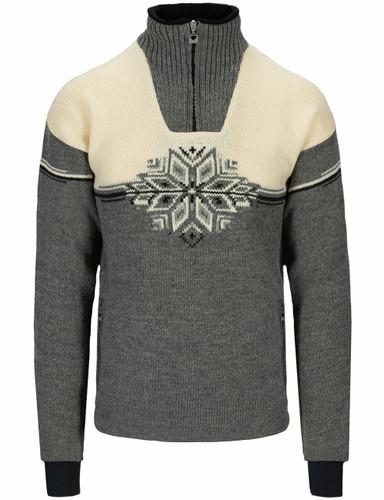 Dale of Norway Veskre Weatherproof Sweater, Mens - Smoke/Offwhite/Dark Charcoal,94851E