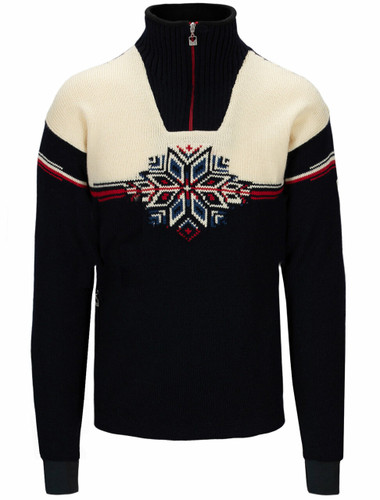 Dale of Norway Veskre Weatherproof Sweater, Mens - Navy/Off White/Raspberry,94851C