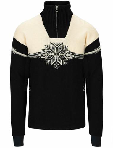 Dale of Norway Veskre Weatherproof Sweater, Mens - Black/Off White/Light Charcoal,94851F