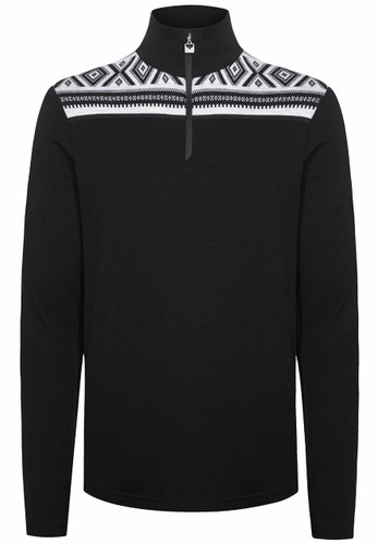 Dale of Norway Cortina Basic Men's Sweater (Base Layer), Dark Charcoal/Off White, 93531T