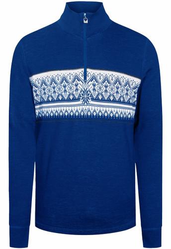 Dale of Norway Moritz Basic Men's Sweater (Base Layer),  Ultramarine/Off White, 92691D