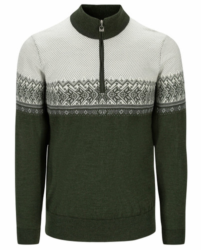 Dale of Norway Hovden Sweater, Mens -  Dark Green/Light Charcoal/Off White,93441-N