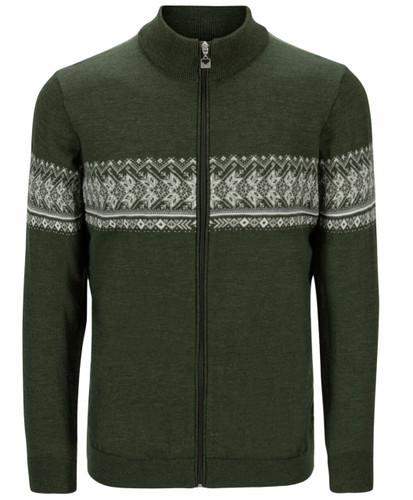 Dale of Norway Hovden Men's Jacket, Dark Green/Off White/Light Charcoal, 83191N