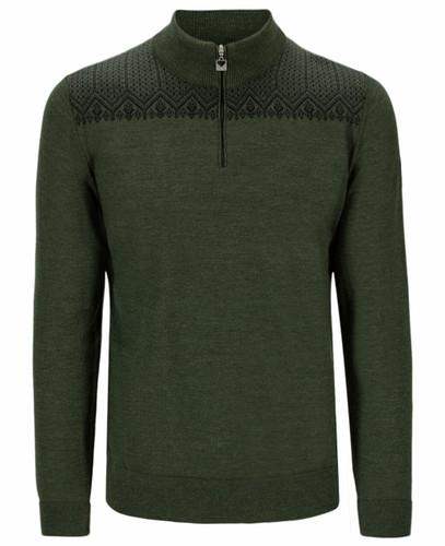 Dale of Norway Eirik Men's Sweater, Dark Green/Black, 93851N