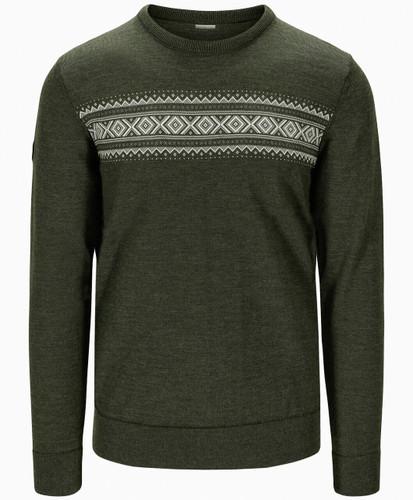Dale of Norway Sverre Men's Sweater, Dark Green/Off White/Smoke, 93031N