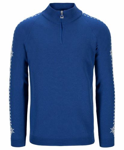 Dale of Norway Geilo Men's Sweater, Ultramarine/Off White, 95041H