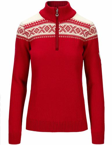 Dale of Norway Cortina Heron Women's Sweater, Raspberry/Off White, 94941B