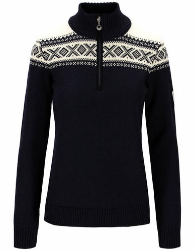 Dale of Norway Cortina Heron Women's Sweater, Navy/Off White, 94941C