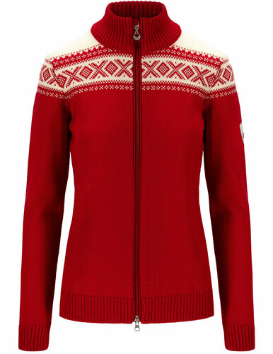 Dale of Norway Cortina Heron Women's Jacket, Raspberry/Off White, 83901B